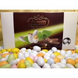 Confetti Bianchi Tenerezze di Cioccolato Liquirizia Menta Buratti