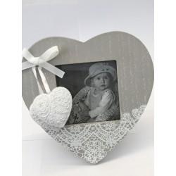 Cornice cuore legno