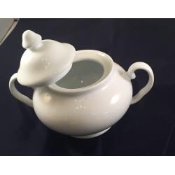 Zuccheriera in porcellana bianca con manici