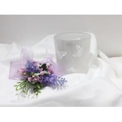 Bicchiere cristallo con decorazione farfalle