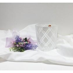 Bicchiere cristallo con decorazione romboidale