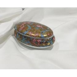 Scatolina in porcellana ovale bellissima decoro fiorentino