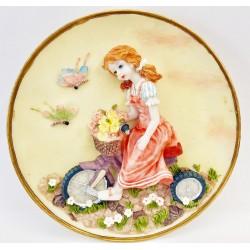 Piatto ceramica bambina