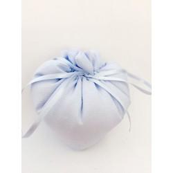 Cuore in tessuto colore azzurro