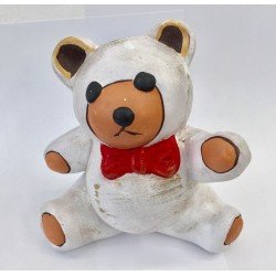 Salvadanaio orsetto terracotta