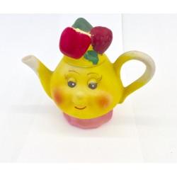 Teiera ceramica gialla